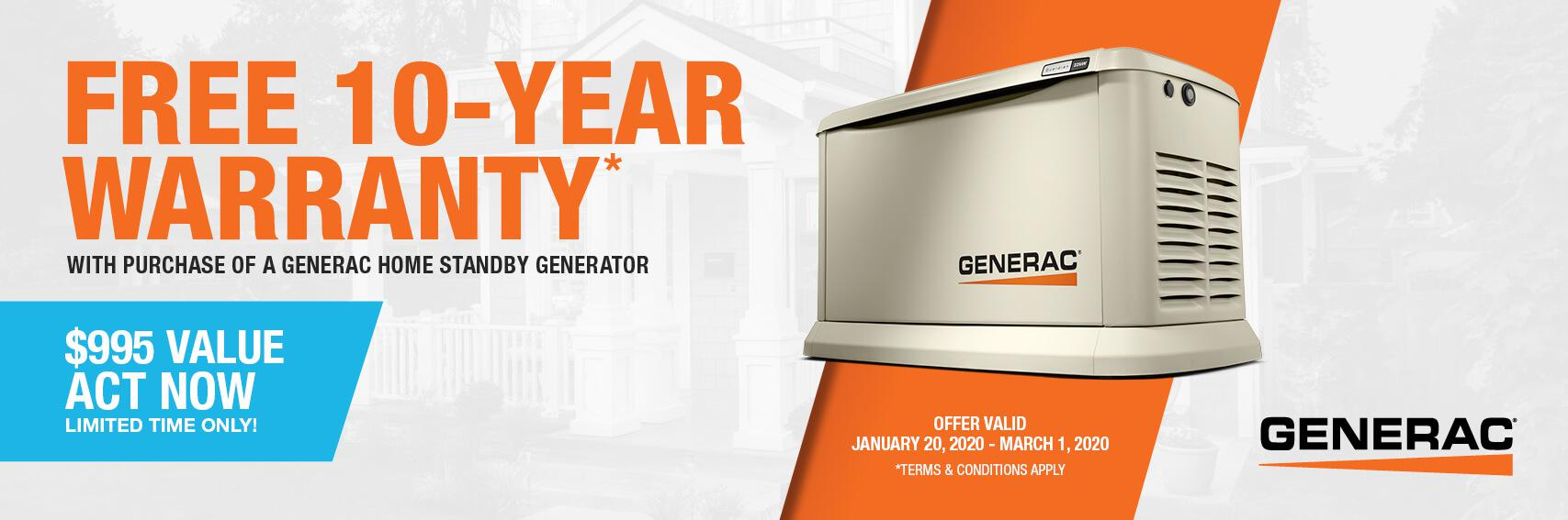 Homestandby Generator Deal | Warranty Offer | Generac Dealer | Beaumont, TX